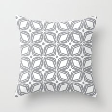 Starburst - Grey Throw Pillow