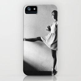 Dancing ballerina on film   Ballet performance in Firenze, Italy   Beautiful art, fine art  iPhone Case