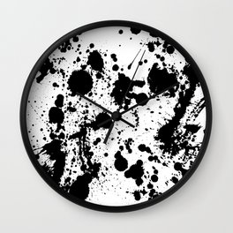 Ink spattered all over - Pattern #society6 #lifestyle Wall Clock