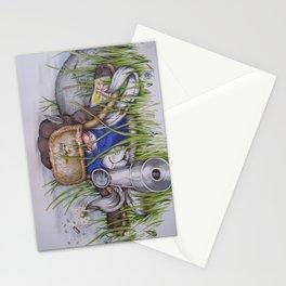 sniper bunny bob Stationery Cards