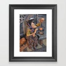 Rucus Studio Maddie the Eccentric Witch Framed Art Print