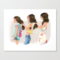sisters Canvas Prints featuring Sisters by Bumpy