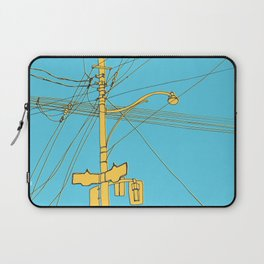 Cables and wires over Queen and Bathurst Laptop Sleeve