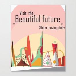 Futuristic Poster Canvas Print