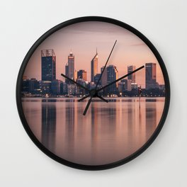 Perth City Sunrise Wall Clock