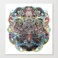 mask Canvas Prints featuring Mask by Nicole Linde
