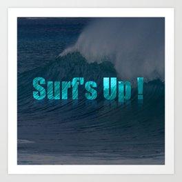 Surf's Up (darker) Art Print