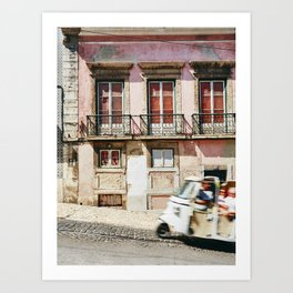 Pink Building and TukTuk Art Print
