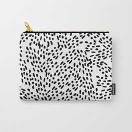 Simple modern hand painted watercolor black brushstrokes Carry-All Pouch