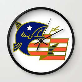 American Fish Wall Clock
