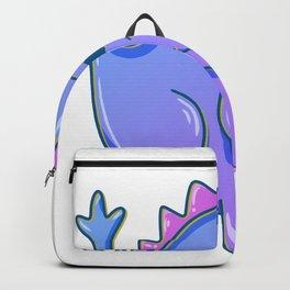 Long-necked herbivores purple Dino Kids Gift Backpack