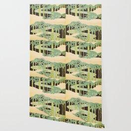 Shin-Bijutsukai – Japanese Design Bamboo At Night Wallpaper