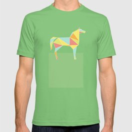 Origami Horse by Friztin T-shirt