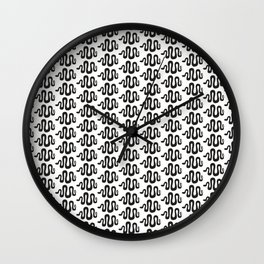 black snakes Wall Clock