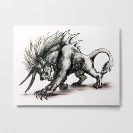 Final Fantasy Behemoth Metal Print