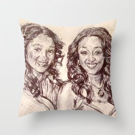 Tia & Tamera Throw Pillow