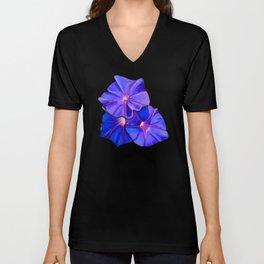 Purple Flowers Galore II Unisex V-Neck