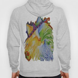 Cat Abstract Original Art Hoody