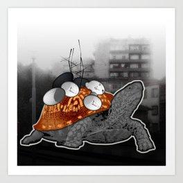 Urban Communication Turtle Art Print