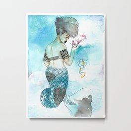 Midori | Inked Mermaids Series Metal Print