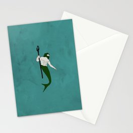 Merman Banner Stationery Cards