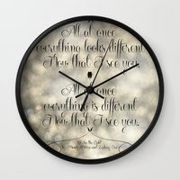 "levi Wall Clocks featuring ""I See the Light"" by Mandy Moore and Zachary Levi from the movie ""Tangled"" by Melissa Martinez"