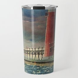 Grand Haven Pier Travel Mug
