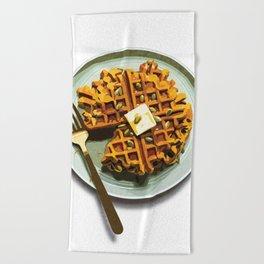 Pumpkin Waffles Beach Towel