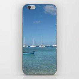 Caribbean port iPhone Skin