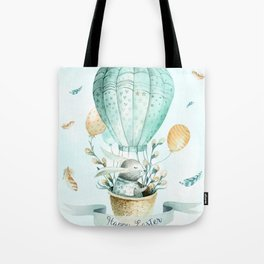 Cute Easter Bunny Hot Balloon Tote Bag
