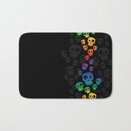 Skulls Fun - rainbow/black Bath Mat
