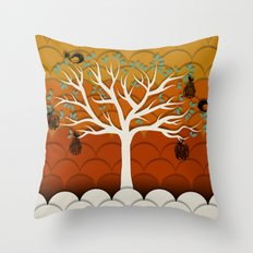 Fruits Talk White Throw Pillow