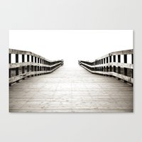 boardwalk empire Canvas Prints featuring Boardwalk by Shaun Lowe