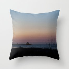 Folly Beach Sunrise Throw Pillow