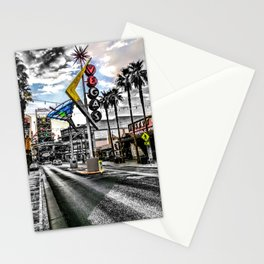 Downtown Old Las Vegas Neon Sign Stationery Cards
