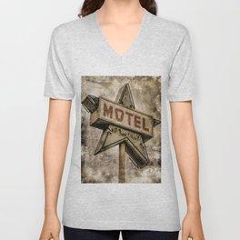 Vntage Grunge Star Motel Sign Unisex V-Neck