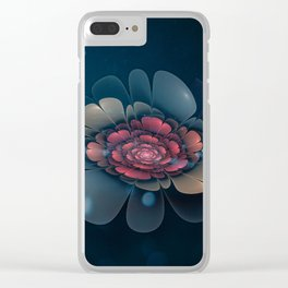 A Beautiful Fractal Flower Clear iPhone Case