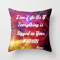 inspiration Throw Pillows featuring Rumi by 2sweet4words Designs
