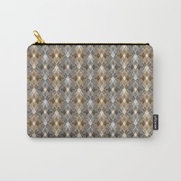 Gray beige geometry. Carry-All Pouch