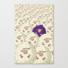 Sheep Pattern | Purple Canvas Print