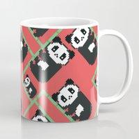 pandas Mugs featuring LAZY PANDAS by Juliana Vidal