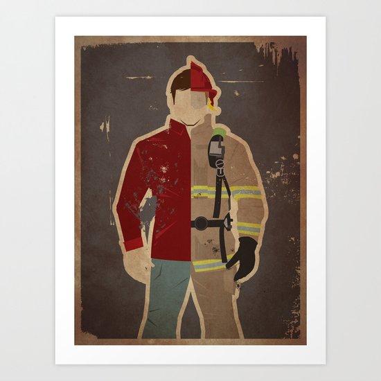 Every Day Hero: Firefighter Art Print
