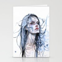 shipping Stationery Cards featuring obstinate impasse by agnes-cecile