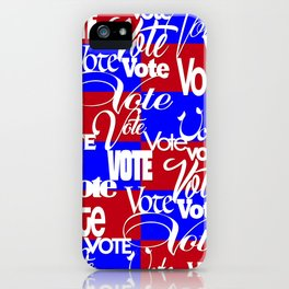 Vote - Red White Blue iPhone Case