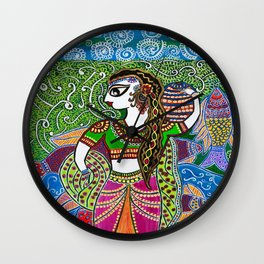 The Indian Fisher Woman Wall Clock
