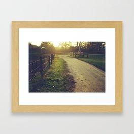 Where I'm going Framed Art Print