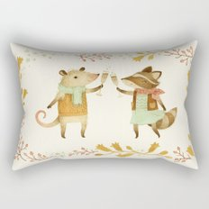 Cheers! From Pinknose the Opossum & Riley the Raccoon Rectangular Pillow