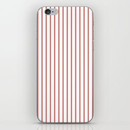 Camellia Pink Pinstripe on White iPhone Skin