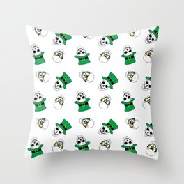 st. paddy's day skulls Throw Pillow
