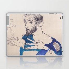 "Egon Schiele ""Gustav Klimt im blauen Malerkittel"" Laptop & iPad Skin"